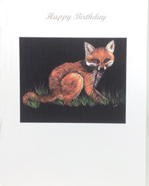 Fox Artwork Card - Ref 209