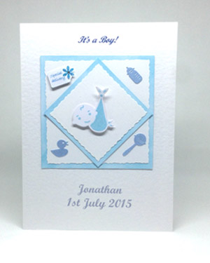 Special Delivery - New Baby Boy Card Front - Ref P130