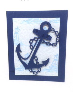 Anchors aweigh! - Men's Birthday Card Closeup - Ref P214