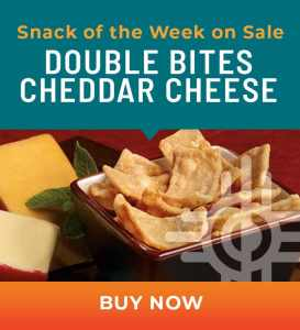Snack of the Week on Sale: Double Bites Cheddar Cheese