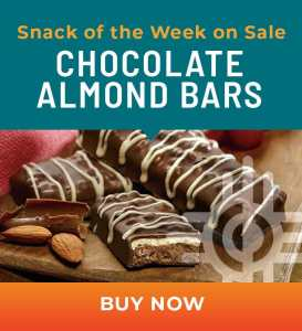 Snack of the Week on Sale: Chocolate Almond Bars