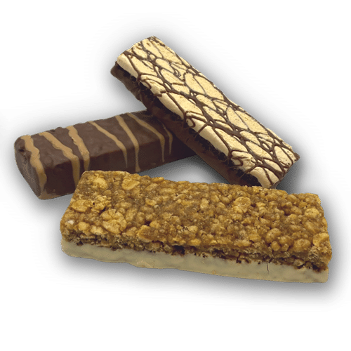 Three snack protein bars.