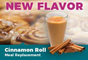 New Flavor: Cinnamon Roll Meal Replacement