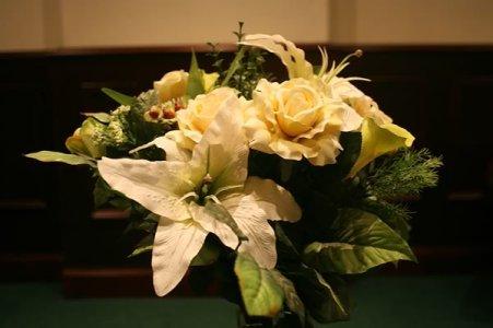 Flowers in Reception Area