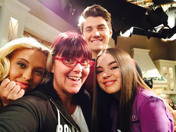Fun on the set!