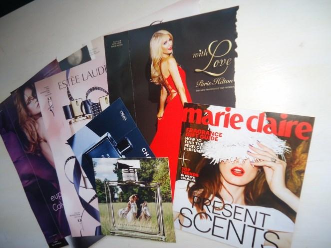 perfume magazine inserts