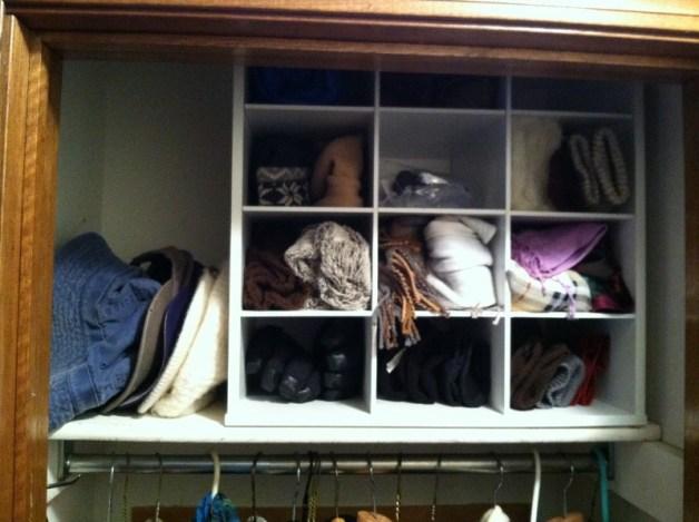 scarves & mitten organizing