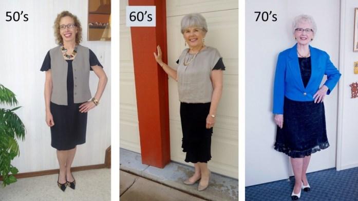 Little Black Dress for summer for ages 50's, 60's, & 70's