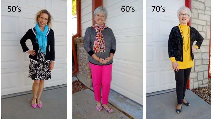 Black & White for the 50, 60, & 70 Year Old Women with brights.