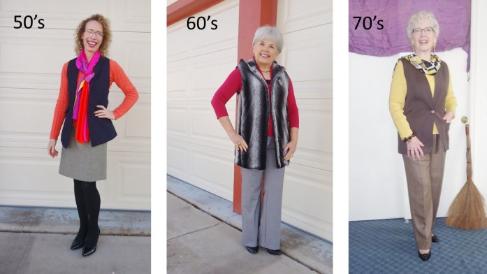 Long Vests for women in the 50's, 60's & 70's age groups.