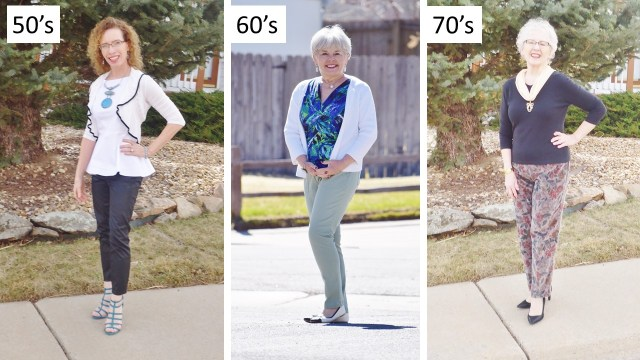 Dressing Slimmer for the 50', 60', & 70 year old women.