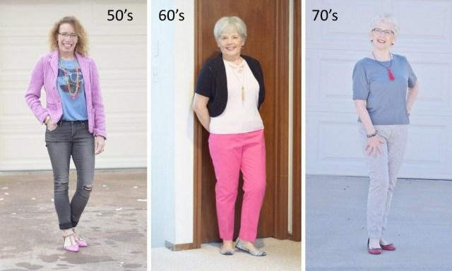 Fringe for 50, 60 & 70 year old women.