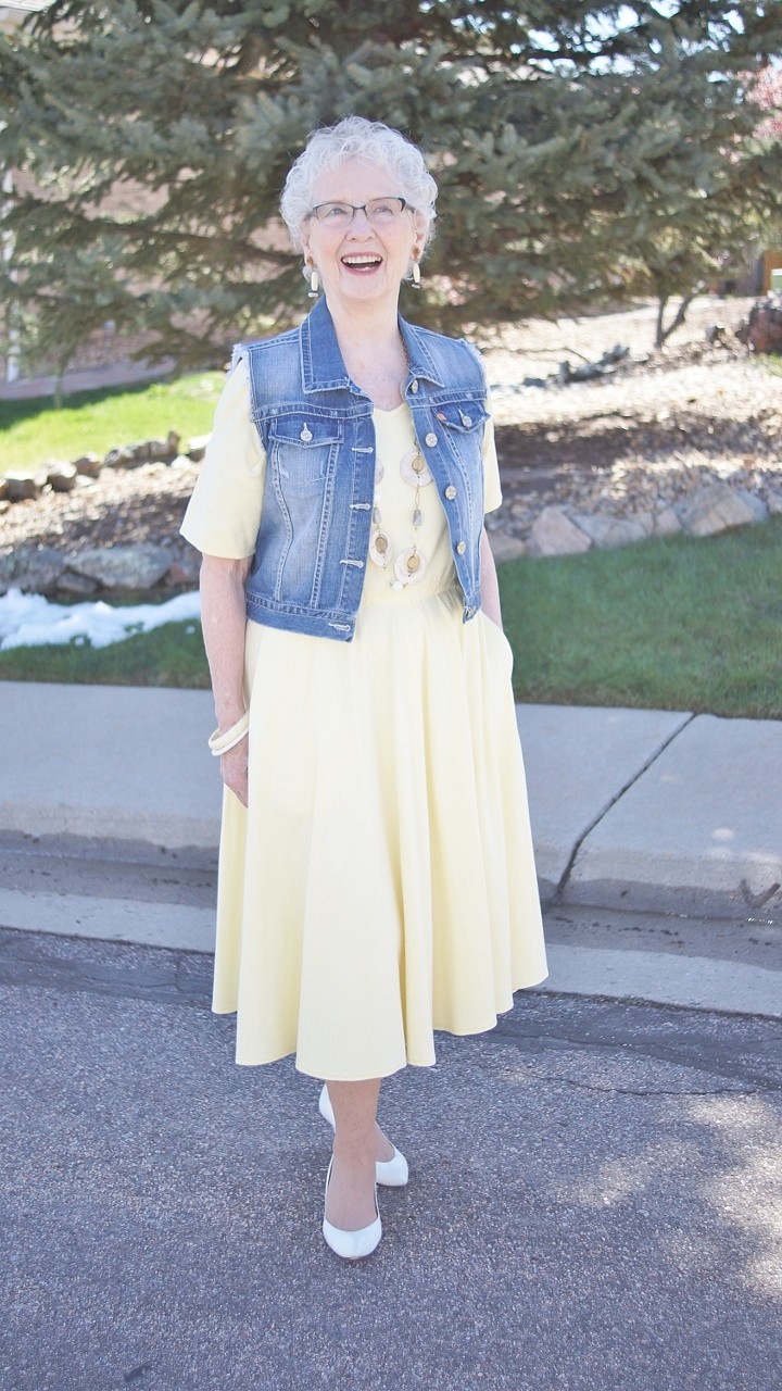 Denim Vest 2 With A Dress Jodie 39 S Touch Of Style