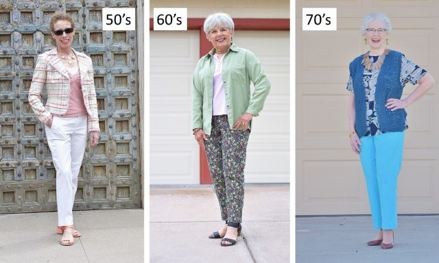Ankle Pants for women ages 50, 60 & 70