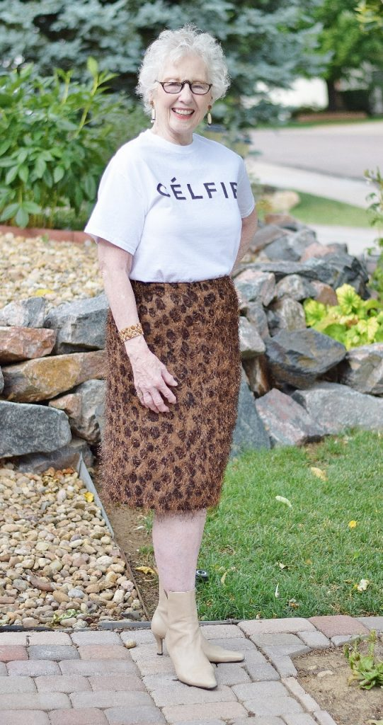 Graphic t-shirts for Women in their 50's, 60's & 70's.