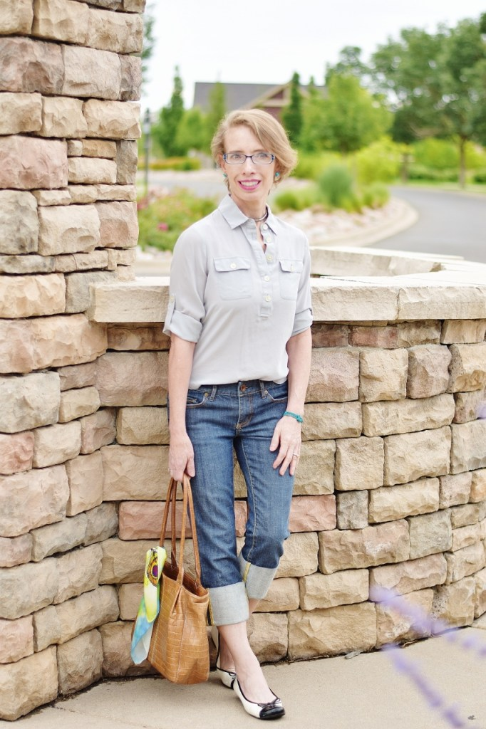 Women over 50 with French chic style