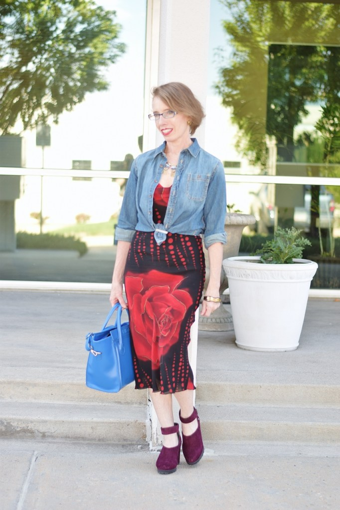 Dressy outfit with fall shoes for women 50+