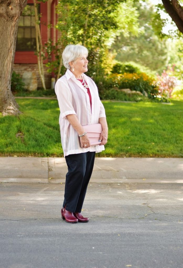 Blush and burgundy for Women over 60