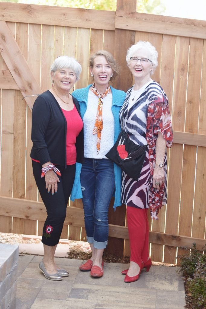Ladies of 3 generations change up an accessory