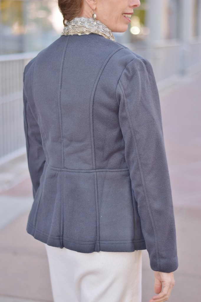 Coats from the back