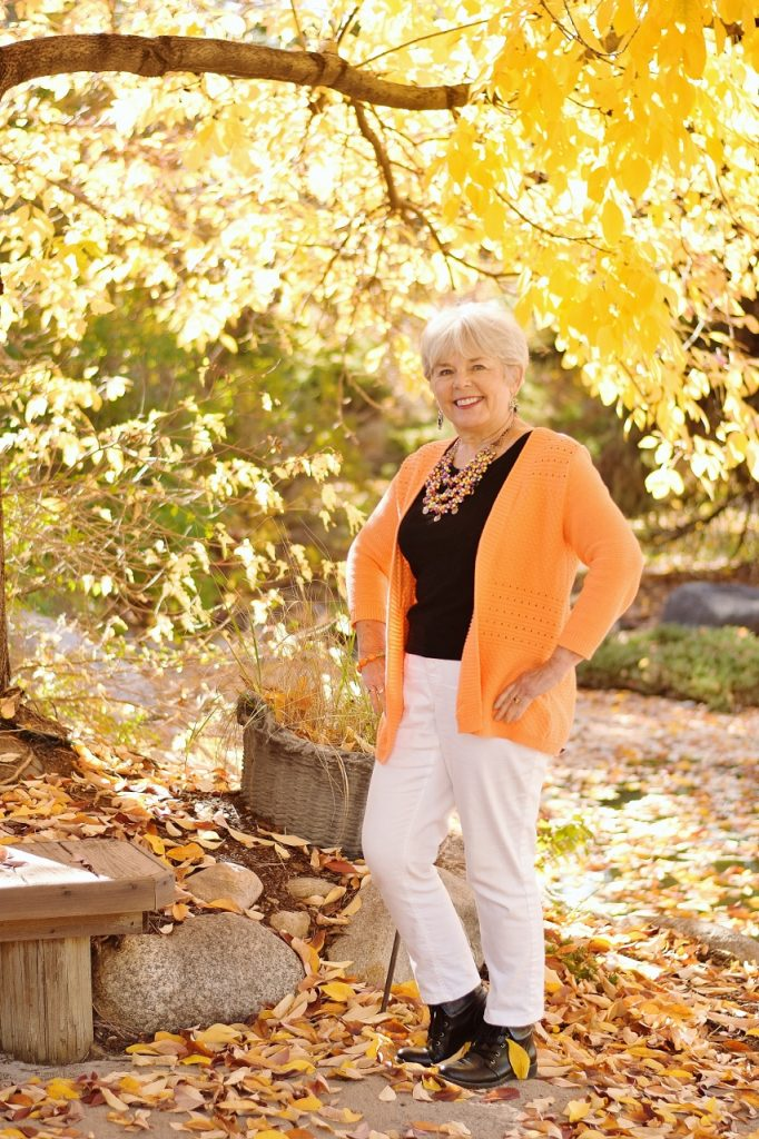 Orange and Black for women over 60