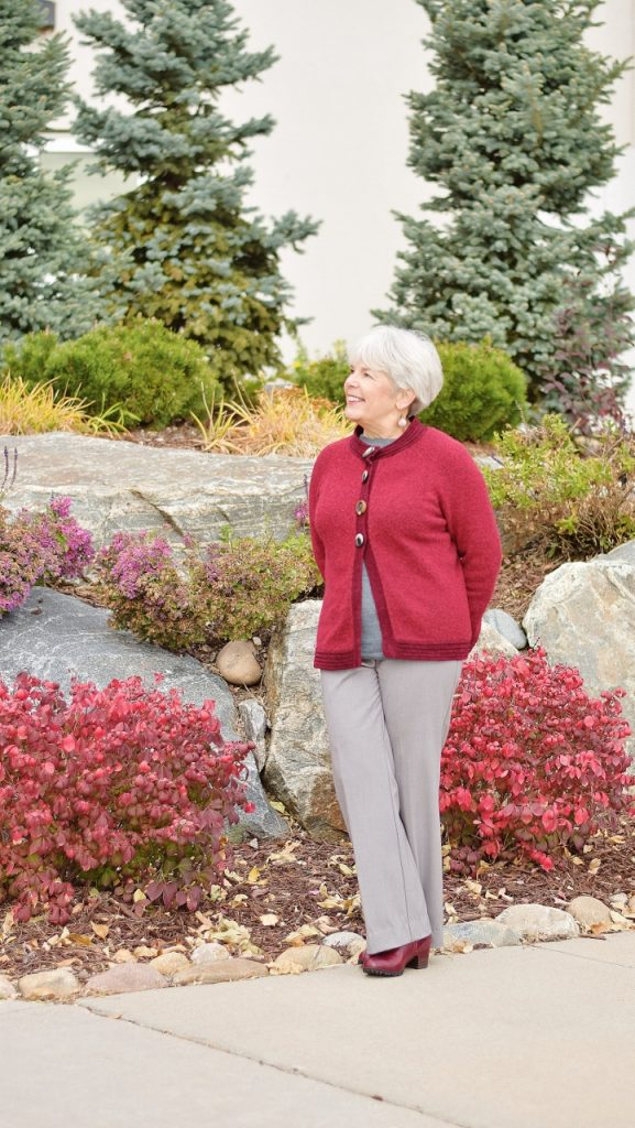 Sweater and Booties for Women over 60