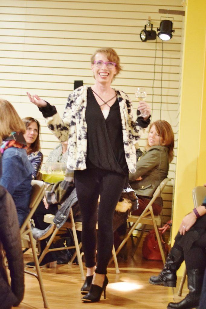 Fur jacket at the fall fashion show
