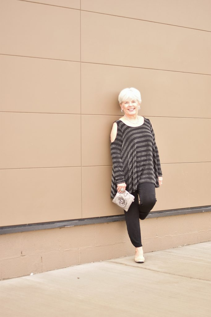 Women over 60 and black pants