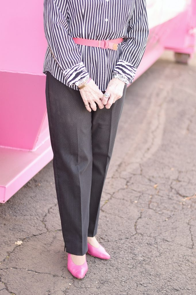 stripes and print mixing in the older generation