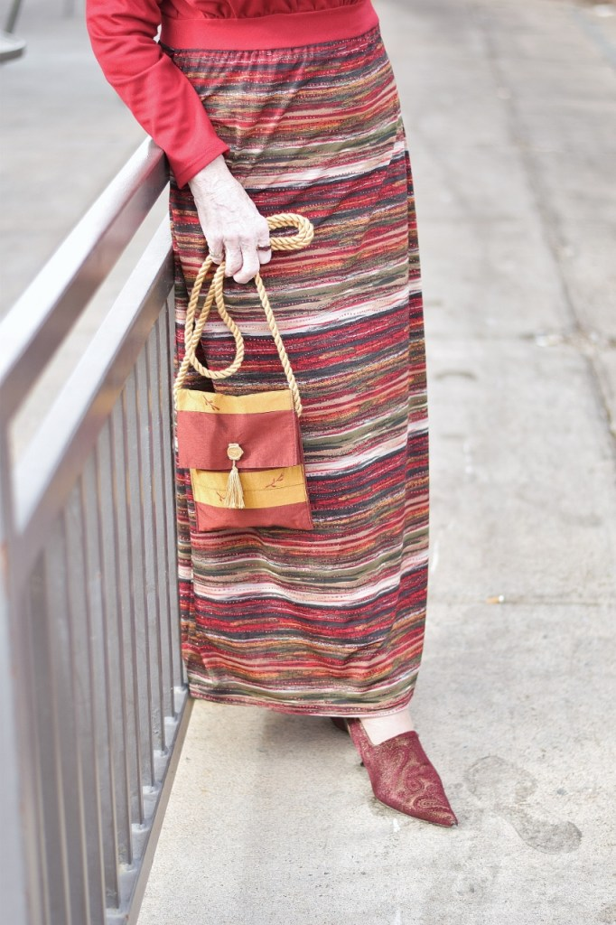 Dressing up for the holidays with a maxi dress