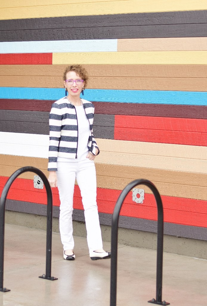 stripes in front of stripes