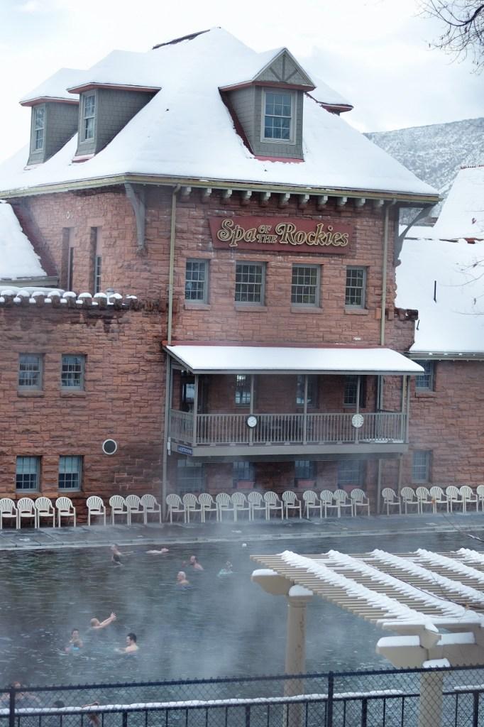 Glenwood Springs at the hot springs