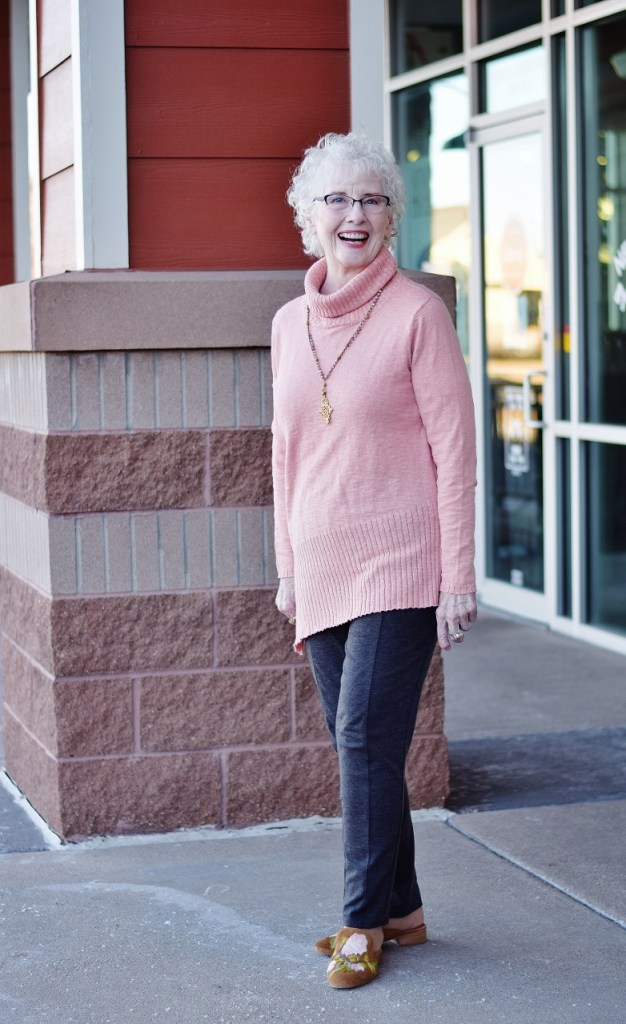 Sweater Weather fashioned for ladies in their 70's