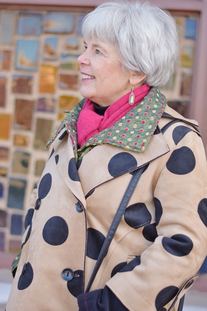Layer your long coat with 2 print coats