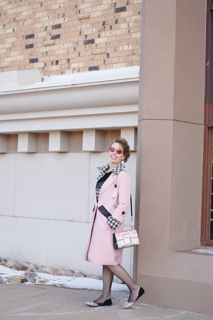 Layer your long coat for winter weather