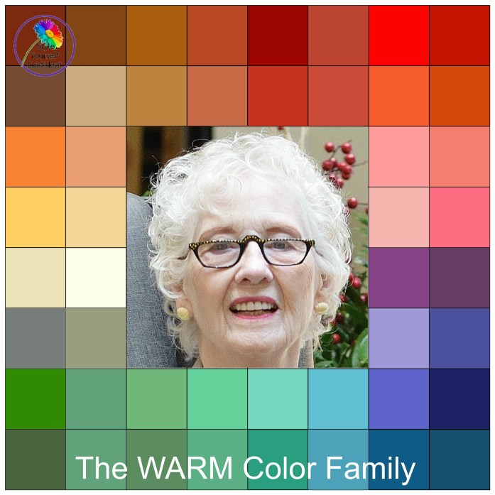 Your colors for a warm color family woman