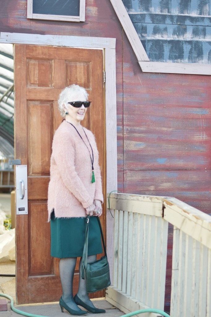 How to create a look with Pink and Green for women over 80