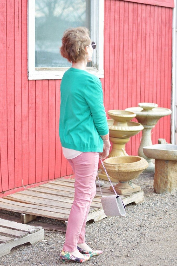 Pink and Green for women over 50