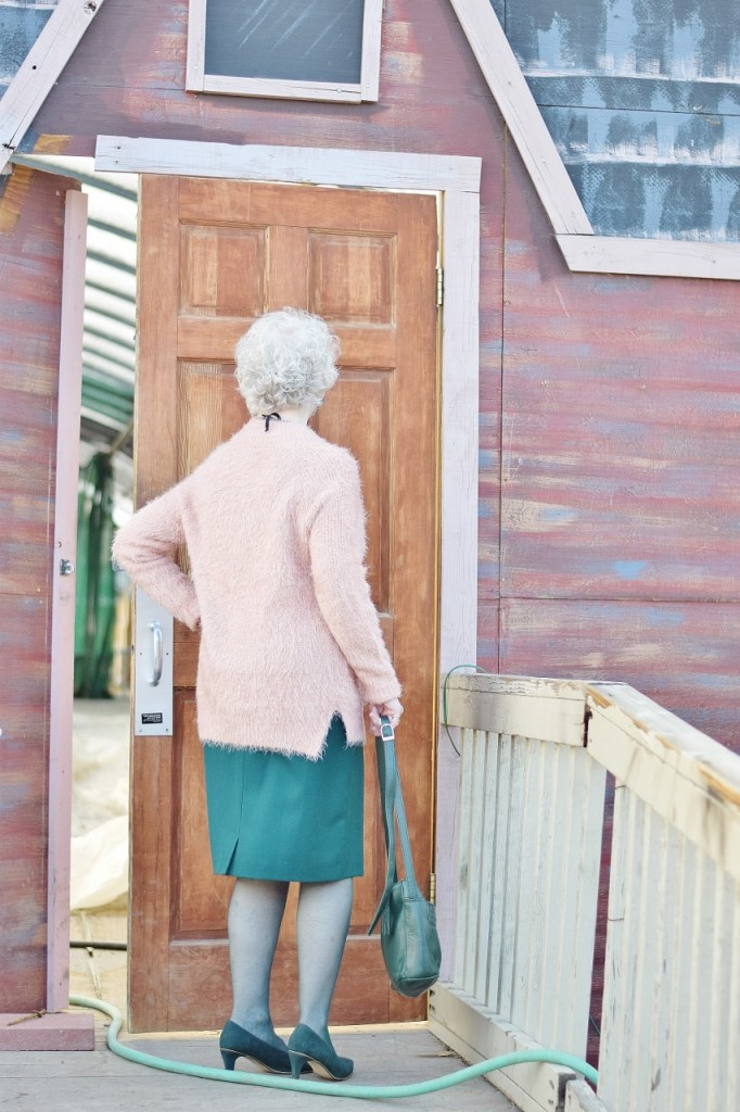 How to create a look with Pink and Green for senior women