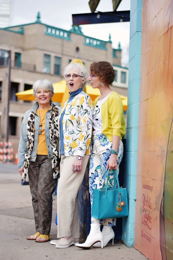 Styling yellow items for mothers and daughters