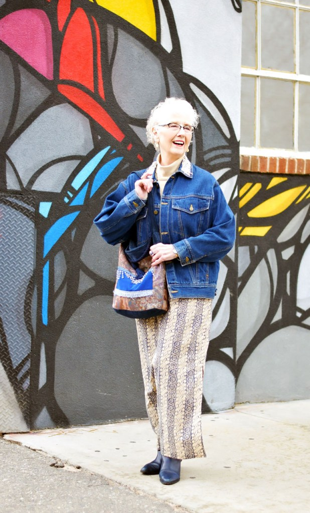 How to wear a denim jacket to make it more feminine