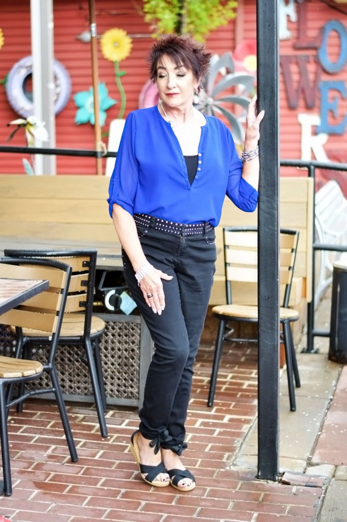 Ways we can be Dressing up denim with color