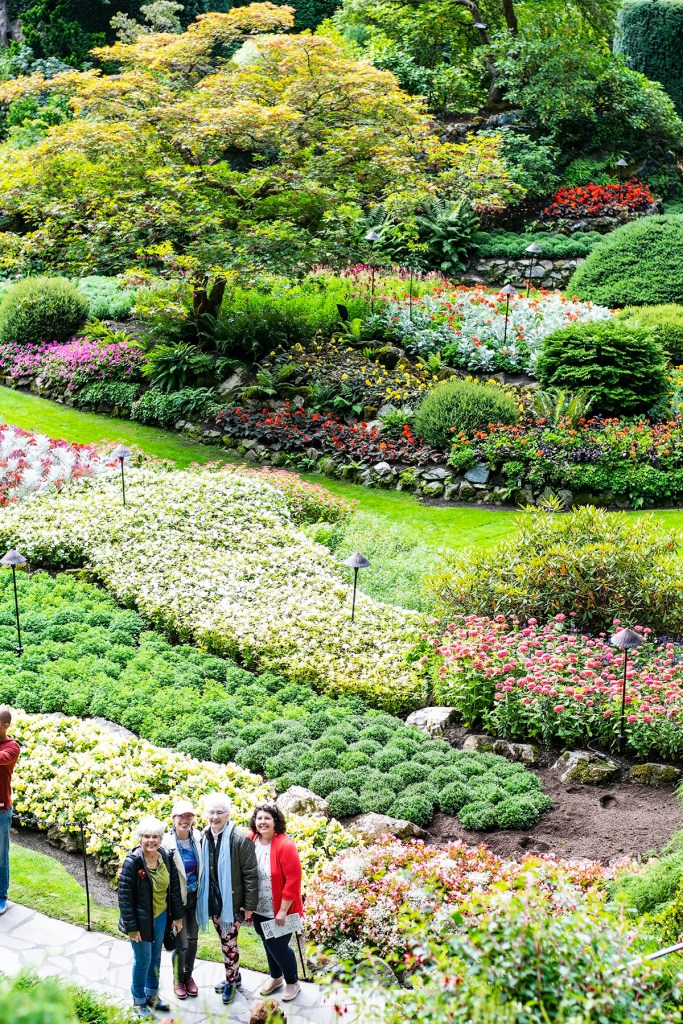 Alaska shore excursions in Victoria at Butchart Gardens as a day tour