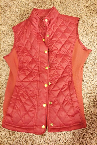 January alterations with puffer vest
