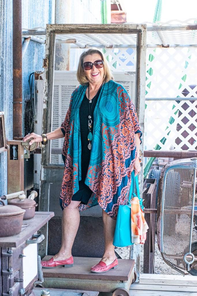 How to wear bohemian style with a kimono