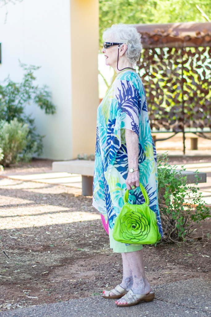 How to wear lime green with a print