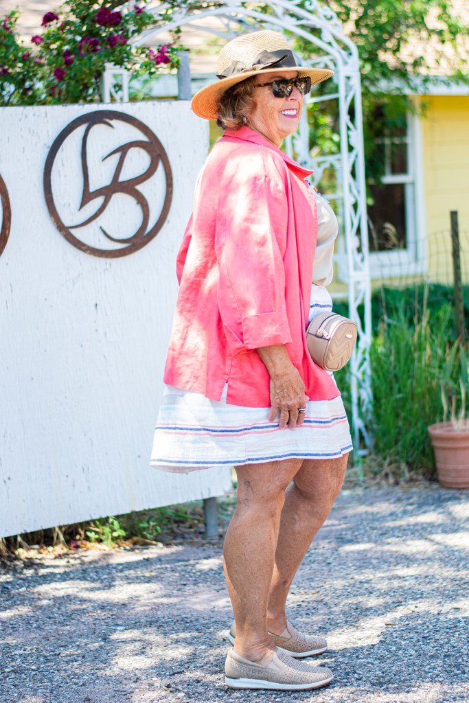 Hats and what to wear with a linen skirt