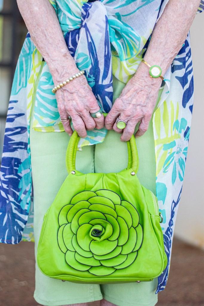 Lime green purse