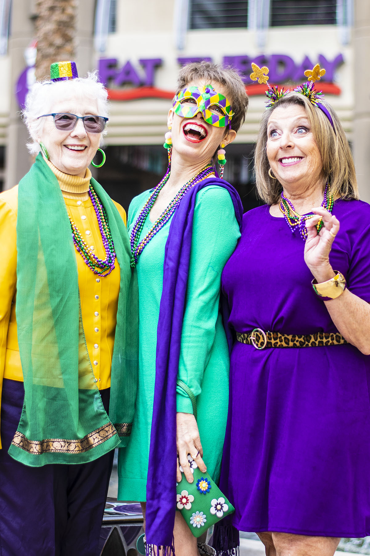 Excellent Outfits Using Mardi Gras Colors