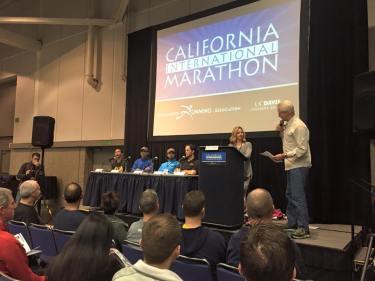 """How to Run CIM"" panel. (Courtesy of the California International Marathon)"